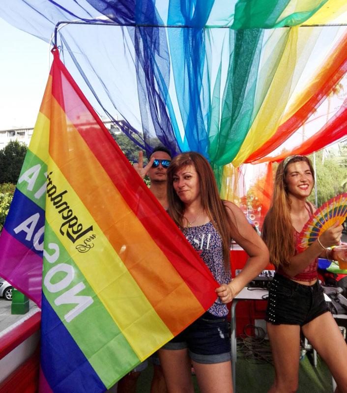 celebrando el día del orgullo gay